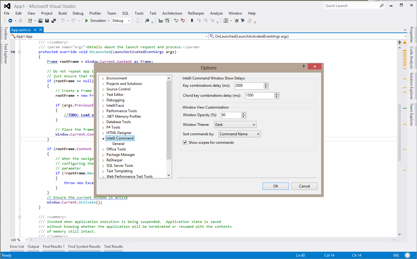 Meet IntelliCommand (Visual Studio 2010/2012 extension)