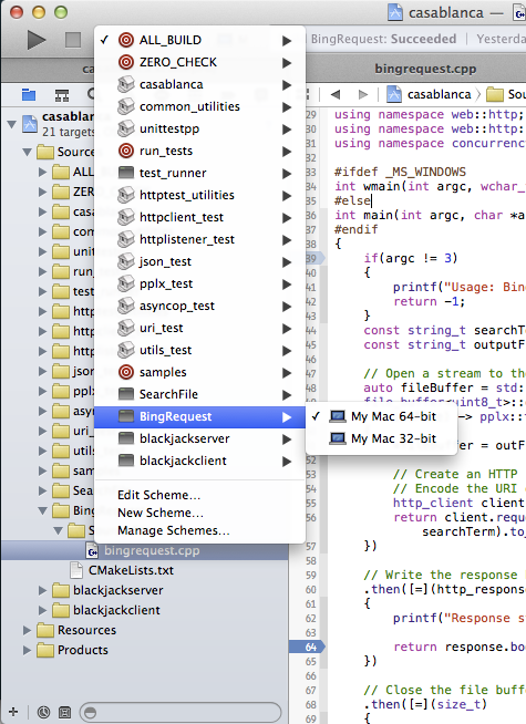 BingRequest in Xcode