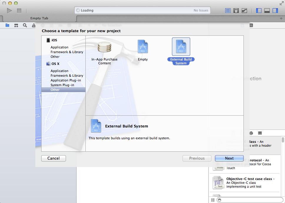 Xcode External Build System