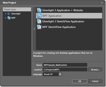 Make New WPF Application