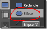 Select Ellipse Tool